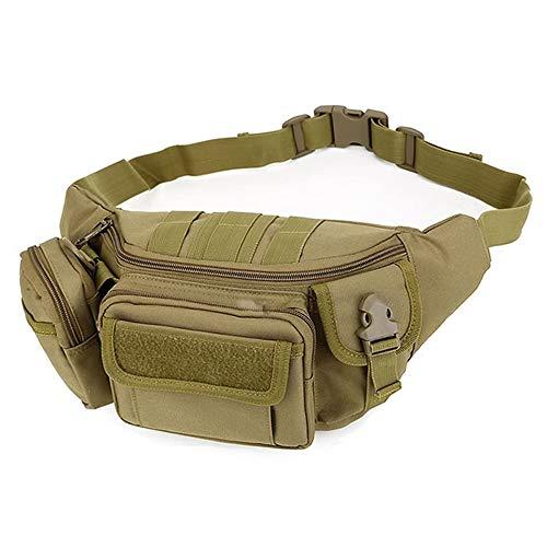 Tactische taille tas, outdoor militaire Fanny Pack draagbare waterdichte heupgordel zak zak zak zak voor reizen wandelen klimmen jacht vissen winkelen