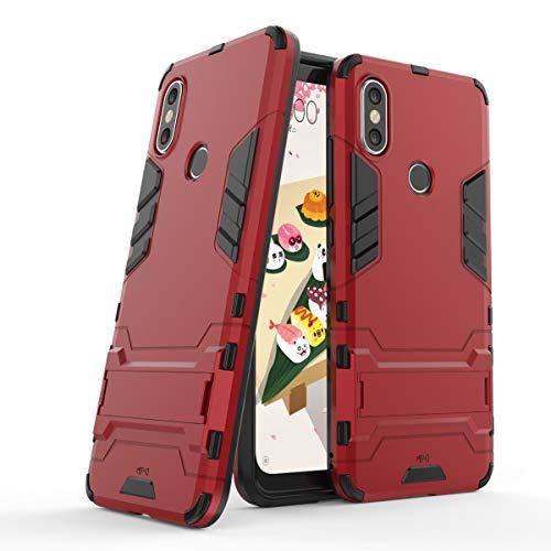 Max Power Digital Funda para Xiaomi Mi A2 / 6X (5.99') con Soporte - Carcasa híbrida antigolpes Resistente (Xiaomi Mi A2, Rojo)