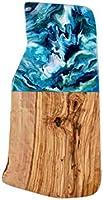 Planche à découper en bois d'olivier rustique 30cm