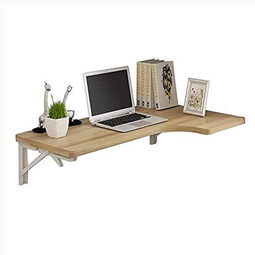 Mesa plegable pared mesa plegable montada Idea simple Mesa de pared Mesa simple Idea simple portátil Soporte Esquina de esquina plegable Escritorio Simple Idea Portátil Paneles a base de madera, 3 col