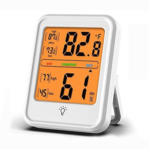 Sunshine20 Termómetro Interior Higrómetro Interior Digital Monitores Temperatura, Rango de Temperatura: -4-158 Grados Fahrenheit