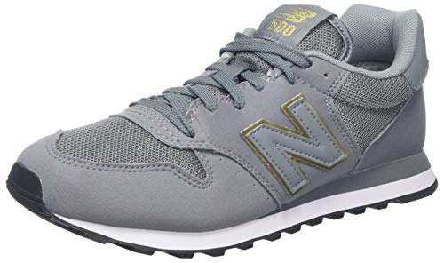 New Balance Damen 500 Sneaker, Grau (Grey Gold), 42.5 EU