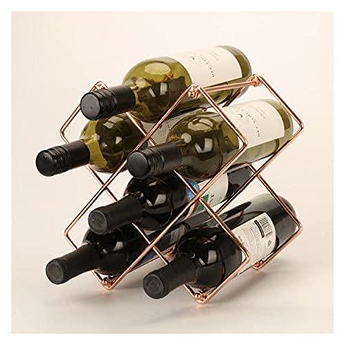 HXYIYG Botellero para Vinos,Botellero Metal Rack de Vino 6/10 cuadrícula portátil portátil de Vino Pantalla de Vino Barra de Vino Botella de Vino Botella de Almacenamiento Decoración del hogar