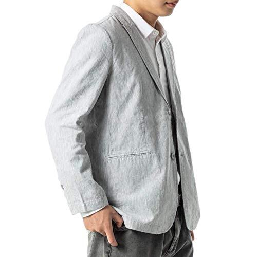 テーラードジャケット メンズ サマージャケット VICALLED グレー キレイめ ジャケット カジュアル 大きいサ...