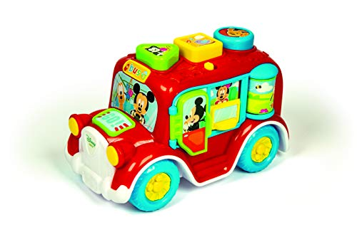 Clementoni- Baby Disney Formas Y Colores Autobús Interactivo, Multicolor (55258)