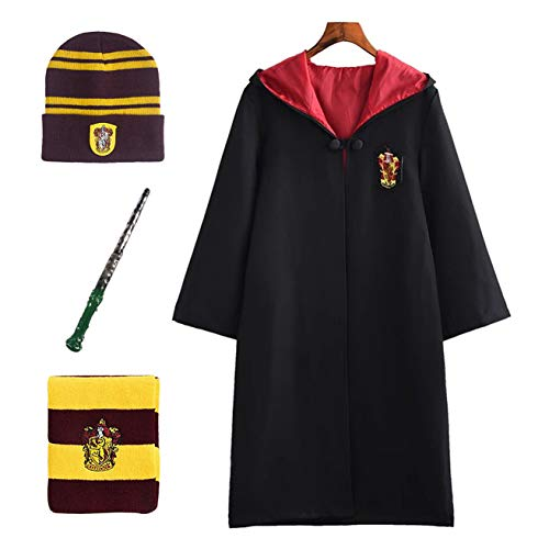 POTTER guidata Cappello Occhiali HARRY Borgogna GIALLO MOVIE Grifondoro Hogwarts House