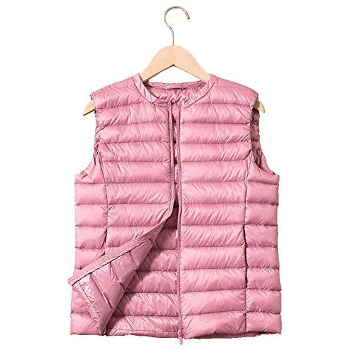 GCC Damen Weste Steppweste Sportweste für Damen mit Rundhals Outdoor Leichte Herbst Winter Weste mit Taschen und Atmungsaktiv Futter H-L
