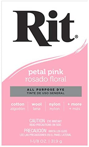 Rit, Petal Pink Purpose Powder Dye, 1.125 ounces