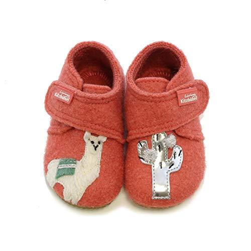 Living Kitzbühel Baby Mädchen Babyklettschuhschuh Lama & Kaktus Hausschuhe, Rot (holzapfel 0342), 23 EU