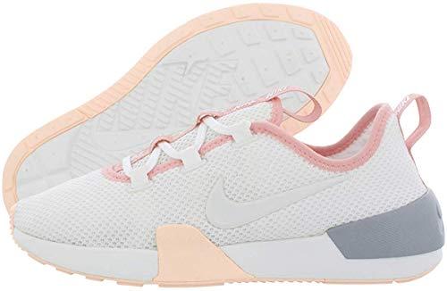 Nike Ashin - Zapatillas de deporte para correr con cordones para mujer, blanco, 7