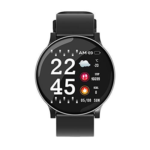 Sport Smart Watch Männer Frauen Puls Blutdruck Sauerstoff Monitor Fitness Tracker Alarm Reminder Smartwatch, W8 Schwarz