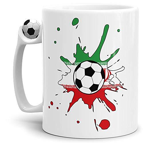 Tassendruck Flaggen-Tasse Zum Fussball Iran Fussball-Tasse - Weltmeisterschaft/WM/Mug/Cup/Tor/Qualität Made in Germany