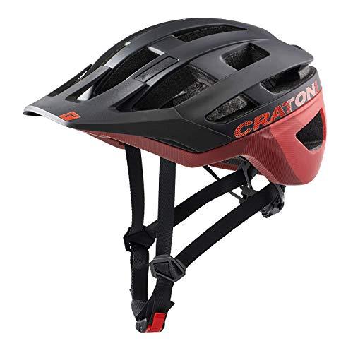 Cratoni AllRace Fahrradhelm Herren/Damen, MTB Helm, Mountainbikehelm 2021 (M-L 56-61, Schwarz-Rot)