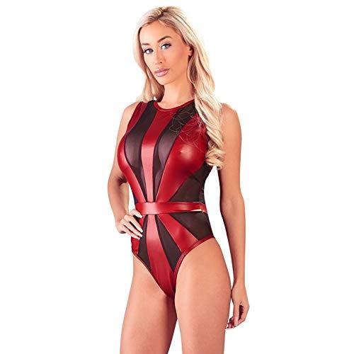 Body rot mit schwarzem Netz, Größe S