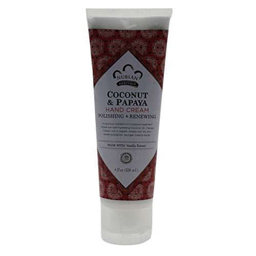 Nubian Heritage Hand Cream, Coconut Papaya, 4 Ounce