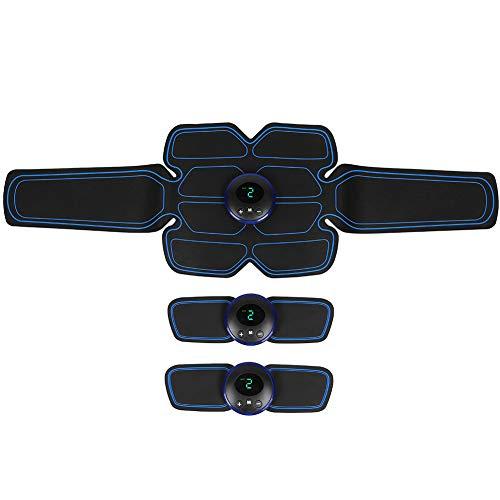 𝐂𝐡𝐫𝐢𝐬𝐭𝐦𝐚𝐬 𝐆𝐢𝐟𝐭 Pantalla LCD, estimulador muscular abdominal de ajuste automático duradero, adhesivo de masaje de fitness, mano para pierna