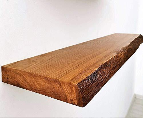 1 Original BestLoft® Wandregal Ruby mit Baumkante aus Eiche Wandboard (140cm)
