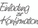Knorr Prandell 211800101 Knorr prandell 211800101 Stempel aus Holz (Kommunion & Konfirmation) Motivgröße 6,8 x 4,2 cm , Motiv: Einladung zur Konfirmation -