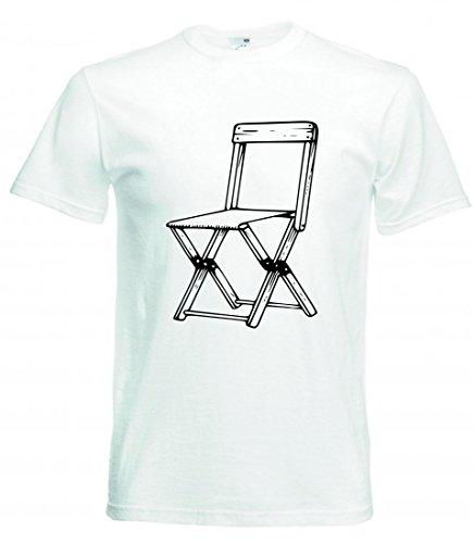 Camiseta de Campamento, Camping, Silla de león, Arrugas, Muebles, Cerezas, en el...