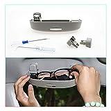 CDEFG Auto Custodia per Occhiali ABS Auto Anteriore Sunglasses Holder Box per Toyota Corolla E210 2019 2020 Portaocchiali Auto (Grigio)
