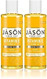 Jason Naturals Vitamin E 5000 IU Skin Oil (Pack of 2) with Sunflower Oil, Safflower, Rice, Avocado, Sweet Almond, Apricot and Wheat, 4 oz. Each