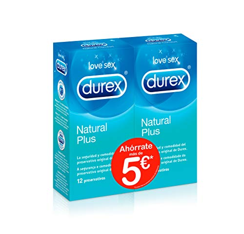 Durex Preservativos Originales Naturales Natural Comfort - Pack Ahorro 2 x 12 Condones