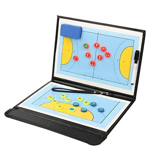 LSG Faltbarer Handball Magnetic Tactical Coach Brettspieler Wettbewerb Training Board Rewritable Coach Supplies (32 * 24.5CM)