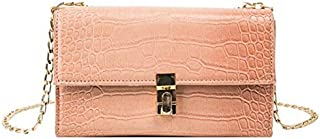 TOOGOO Summer New Stone Pattern Flip Bag Leather Women'S Handbag Chain Chain Shoulder Messenger Bag Green