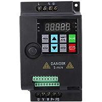 Mini VFD, inversor de frecuencia Inversor convertidor de frecuencia variable trifásico para motor, variador de velocidad 220V / 380V 0.75/1.5/2.2KW (220VAC-2.2KW)