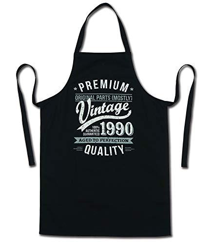 My Generation Gifts 1990 Vintage Year - Aged To Perfection - 30 Cumpleaños Regalos / 30 años Delantal para Hombre Negro