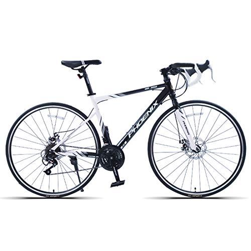 WYZQ 27,5 Pulgadas De Bicicletas De Carretera, 700C Acero De Alto Carbono Camino De La Bicicleta, De Velocidad Variable Bici El Competir para Hombres Y Mujeres,14 Speed White