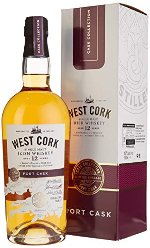 West Cork 12 Years Old Irish Whiskey Port Cask Finish Limited Release (1 x 0.7 l)
