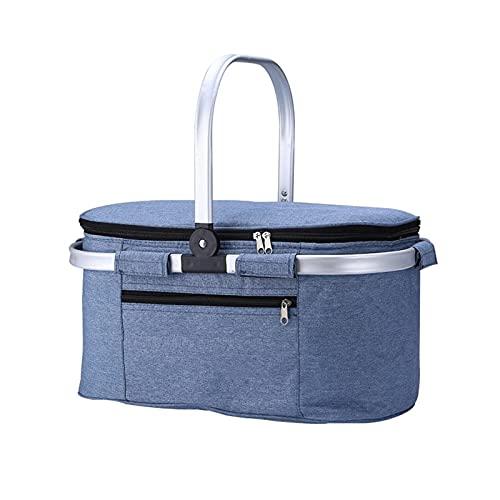 Z-COLOR Bolsa de enfriador plegable aislada de la bolsa de asas a prueba de agua y a prueba de fugas con el kit de almuerzo de la correa de hombro ajustable para acampar, BARBACOA y actividades infant
