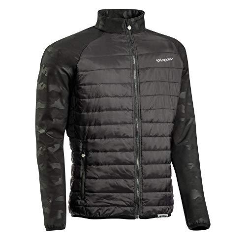 Ixon - Chaqueta de plumas para moto Gotham, color negro, camuflaje (talla S)