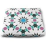 Houity Marokkanisches islamisches Muster, geometrisches Fliesenmuster, 100% Polyester, quadratisches...