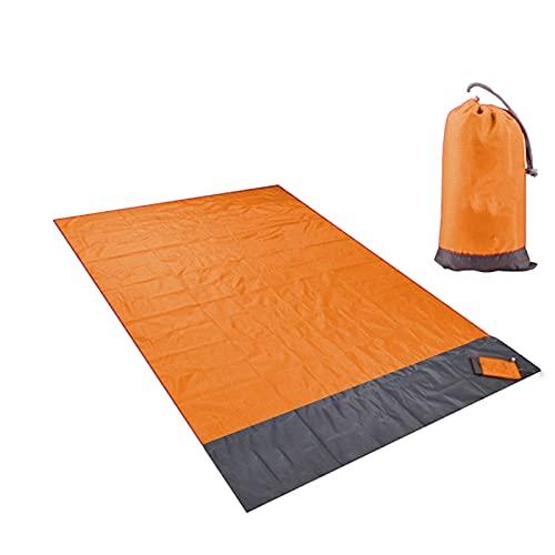 LJGFH Artikel im Freien 2m Tragbare Taschendecke wasserdichte Matte Für Picknick Strand Outdoor Camping Zelt wasserdichte Wandern Zelt Schlafmatte Robust (Color : Orange)