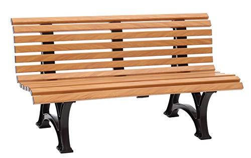 Blome Helgoland Gartenbank aus Kunststoff 3-Sitzer in Holzoptik 150 cm