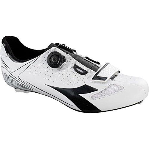 Diadora D170218 - Zapatillas para Ciclismo de Sintético Unisex Adultos, Color Blanco, Talla 40 EU