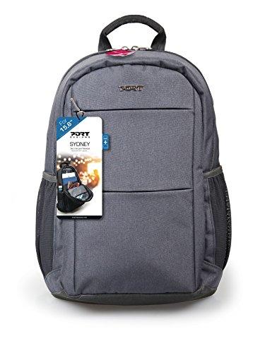 Port Designs 135075 Sydney Backpack Business Laptop Bag 15.6 Inch College Professional Rucksack Casual Daypack with Adjustable and Padded Shoulder Straps for Men/Women - Grey