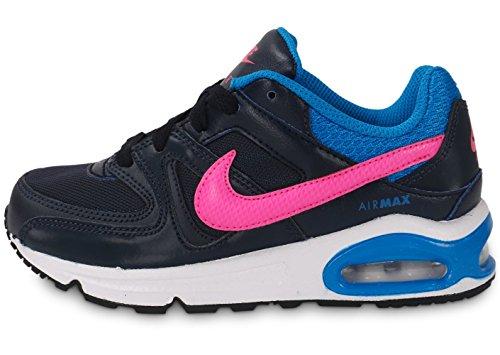 Nike Mädchen Air Max Command (Ps) Turnschuhe, Negro / Rosa / Azul (Obsidian / Pink Pow-Photo Blue), 29.5 EU