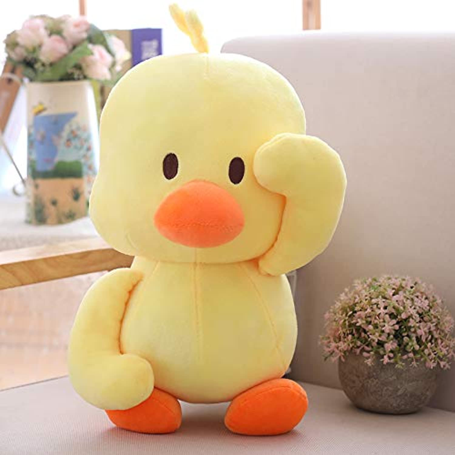 DONGER Duck Figurine Little Yellow Duck Cute Toy Doll Cute Girl Rag Doll, Small Yellow Duck, 40 Cm