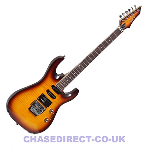 Shine by Chase Electric Guitar SIL-50VS Superstrat Vintage Sunburst Floyd Rose Tremolo