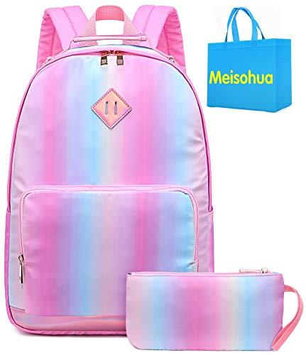 Zaino arcobaleno sfumato per ragazze - Zaino prescolare per bambini carino Zaino scuola materna Zaino da giorno Zaino regalo