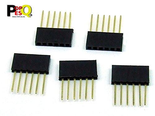 POPESQ® - 5 Pzas/pcs. x Conector Hembra/Header Apilable/Stackable