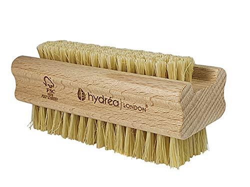 Hydréa London FSC® Certified Beechwood Wooden Nail Brush Strong Cactus...