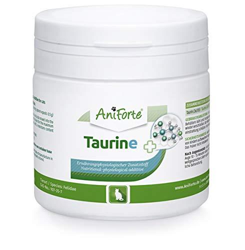 AniForte Taurin Katze 100g – 100{c0d34595eace98e2952eec2b3869b86c4885e9a2157c5302b4bf544eb6f1c066} reines Taurin, Regulation Nervensystem & Immunsystem, Netzhaut & Stoffwechsel unterstützend, Erhaltung von Herzfunktion & Herzkreislaufsystem, Taurin für Katzen
