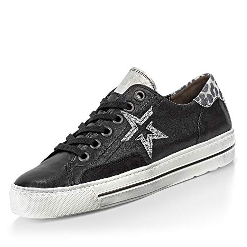 Paul Green 4810 Damen Sneakers Schwarz/Grau, EU 38,5