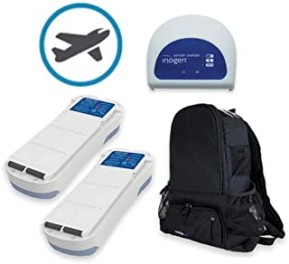 Inogen One G2 Airline Power Bundle - Two 24 Cell Batteries, External Charger, Backpack, and Airline Priority Tag Identifier