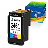 DOUBLE D Remanufactured 246XL Color Ink Cartridge Replacement for Canon 246XL 246 CL-246XL CL-244 Color High Yield for Pixma MX492 MX490 MG2522 MG2520 MG2420 MG2920 MG2922 iP2820 Printer (1 Tri-Color)