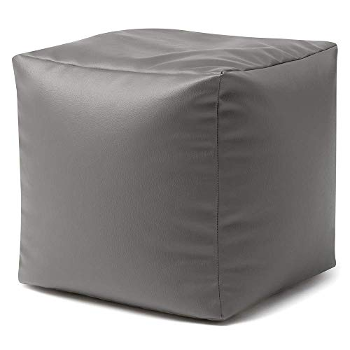 Hippo Steel Square Bean Bag Footstool Pouffe Seat in Soft Jumbo Cord Fabric